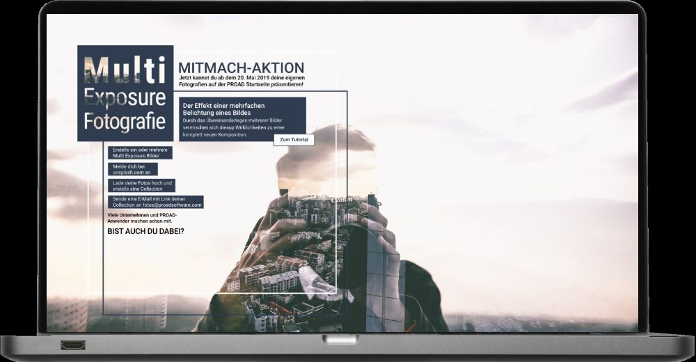 Screenshot Mitmach-Aktion Multi-Exposure PROAD Software