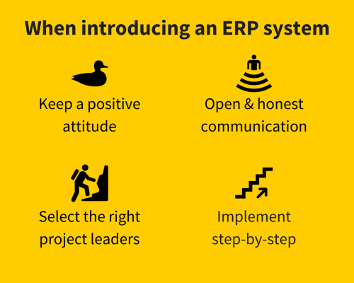 What to do when introducing an ERP system