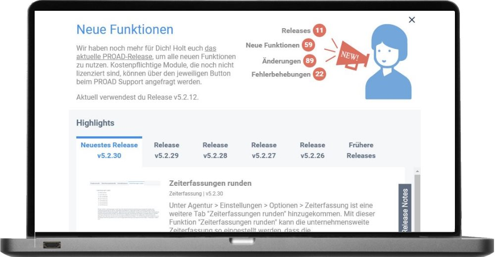 Screenshot Versionsprüfung Login